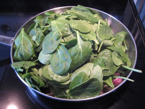 Stir in spinach
