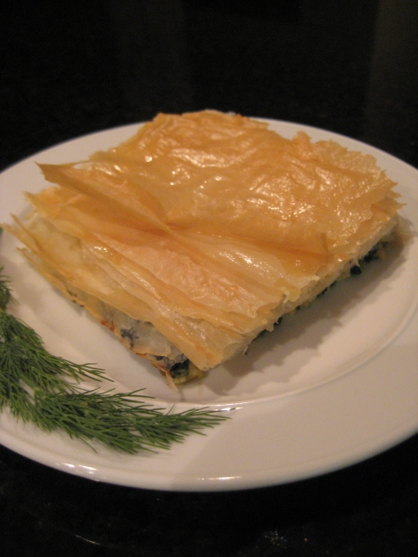 Greek Phyllo Spinach and Cheese Bake